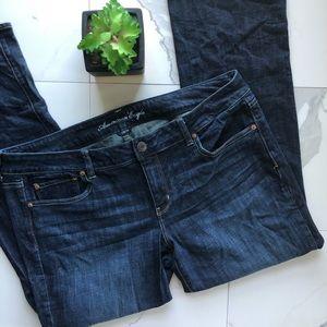 American Eagle Dark Straight Leg Stretch Jeans